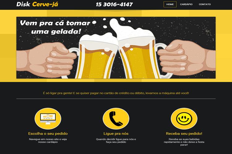 Site Institucional Disk Já Cerveja