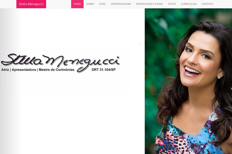 Website da Atriz Stella Menegucci